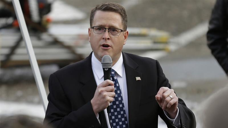 Republican state legislator Matt Shea found himself in hot water over advocating a 'holy army' [File: Ted S Warren/AP Photo]