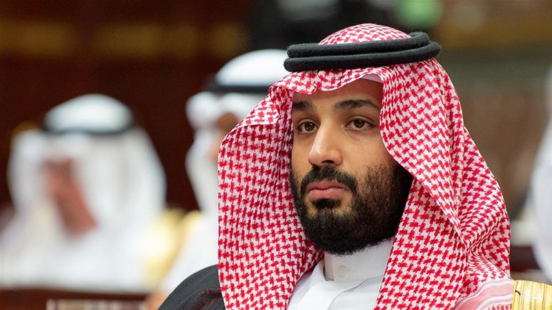 Crown Prince <span>Mohammed bin Salman</span> is under the spotlight over suspected involvement in journalist's murder [Handout via Reuters]