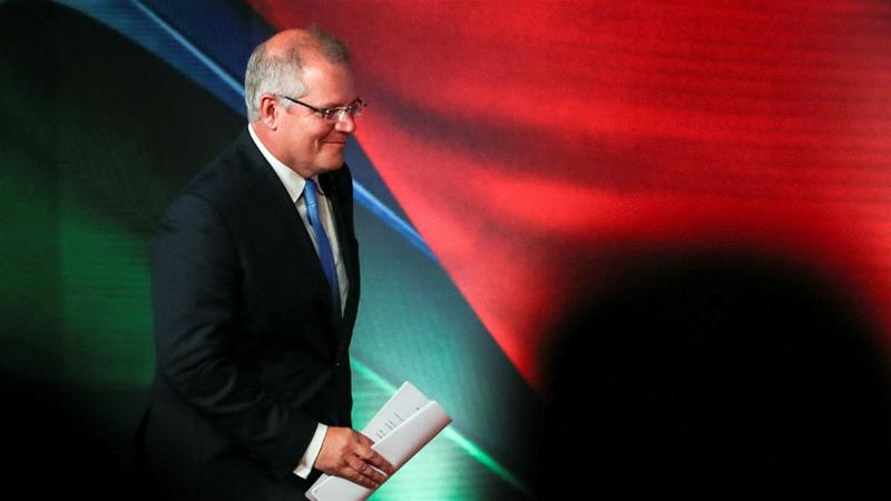 Australia's Prime Minister Scott Morrison at this month's APEC summit in Papua New Guinea [Fazry Ismail via Reuters]