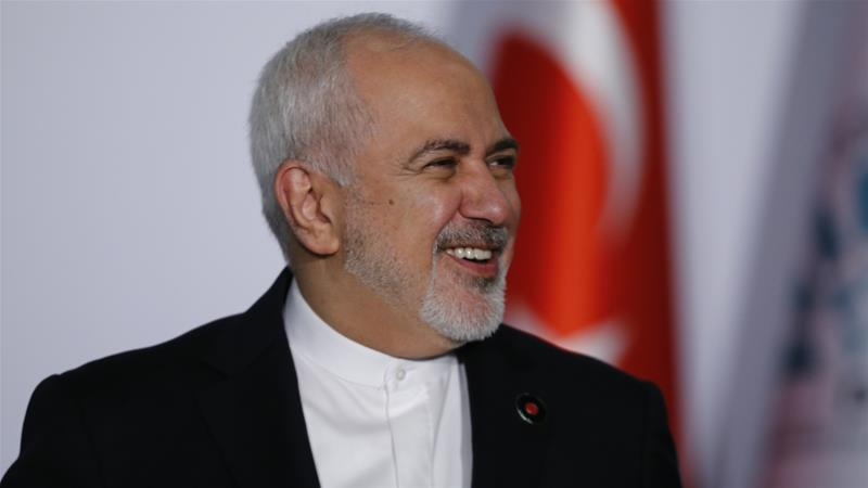Zarif mocked Trump by tweeting: 'Perhaps we're also responsible for the California fires' [File: Anadolu]