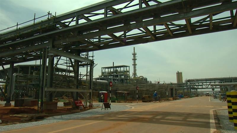 The Lynas plant on Malaysia's east coast produces rare earths that are used in mobile phones and other hi-tech products [Al Jazeera]