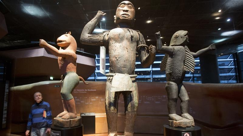 There are about 90,000 African artworks in French museums [Michel Euler/AFP]