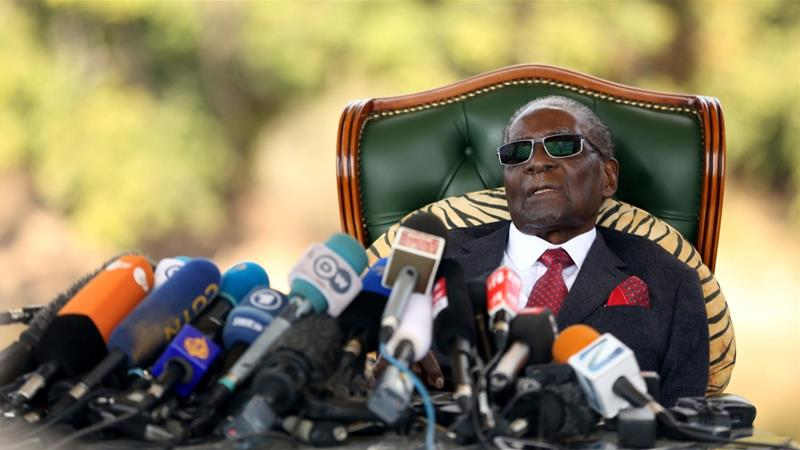 This month marks the one-year anniversary of Mugabe's resignation as Zimbabwe's president [File: Siphiwe Sibeko/Reuters]