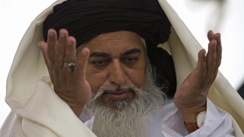 Tehreek-e-Labbaik leader Khadim Hussain Rizvi was arrested in Lahore on Friday [B.K. Bangash/AP]