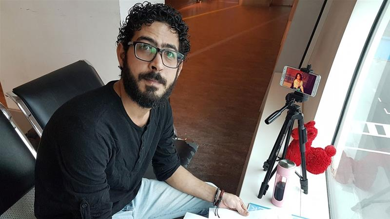 Al-Kontar took to social media to document his daily life in the Kuala Lumpur airport terminal [Hassan al-Kontar/Facebook]