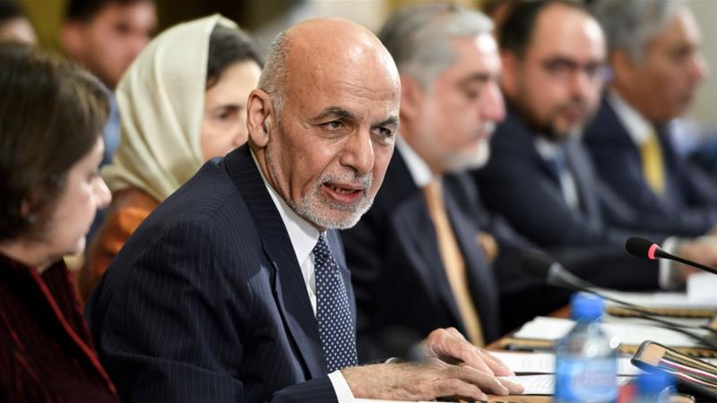 Ghani said that he is hoping for a peace agreement in which the Taliban would be included in a democratic and inclusive society [Fabrice Coffrini/AP Photo]