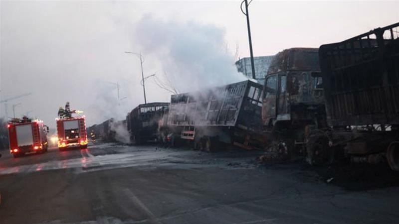 Blast kills 22 near China factory in Olympic city