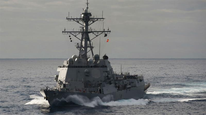 us navy sends two ships through taiwan strait opposing china usa
