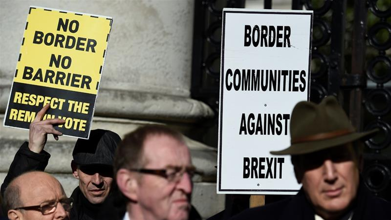 The UK and EU both want to avoid a hard border between Ireland and Northern Ireland but have yet to reach an agreement on how it will function [File: Clodagh Kilcoyne/Reuters]