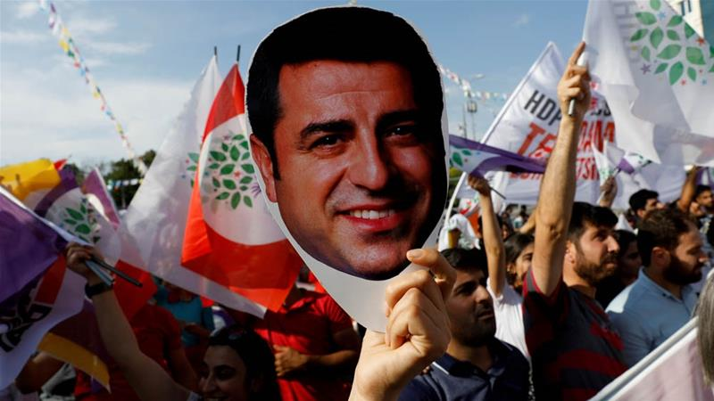 Demirtas has been in jail for more than two years and received his first sentencing last September [Reuters]
