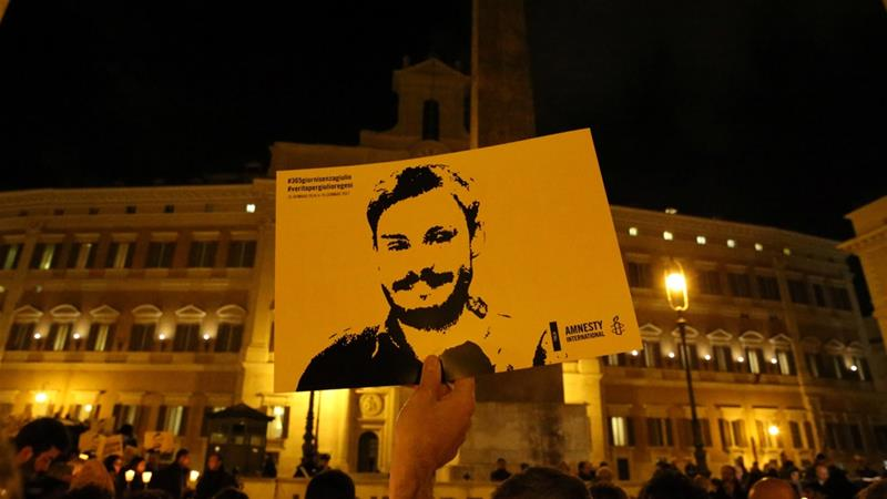 No one has yet been arrested or charged over Regeni's killing in 2016 [File: Alessandro Bianchi/Reuters]