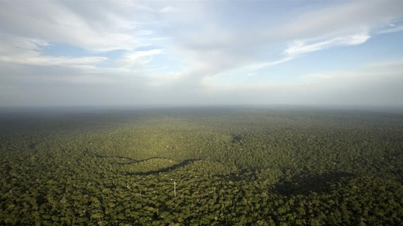 A view is seen from the Amazon Tall Tower Observatory (ATTO) in Sao Sebastiao do Uatuma in the middle of the Amazon forest in Amazonas state, Brazil [Bruno Kelly/Reuters]