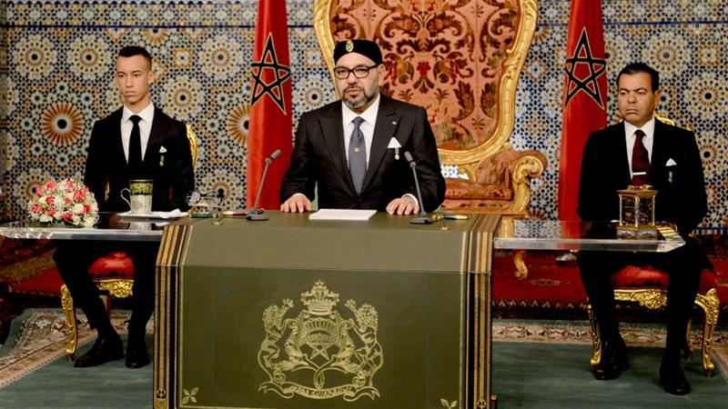In a speech on Tuesday, the king said dialogue was necessary to overcome the two countries' political difference [EPA]