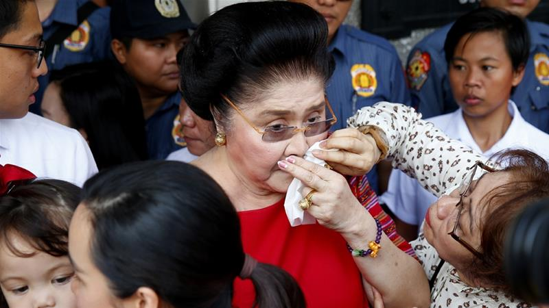 A special court sentenced Marcos, 89, to serve 6 to 11 years in prison for violating an anti-corruption law [File: AP]
