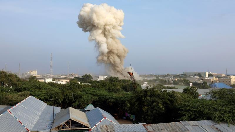 The blast occurred near the headquarters of Somalia's Criminal Investigations Department