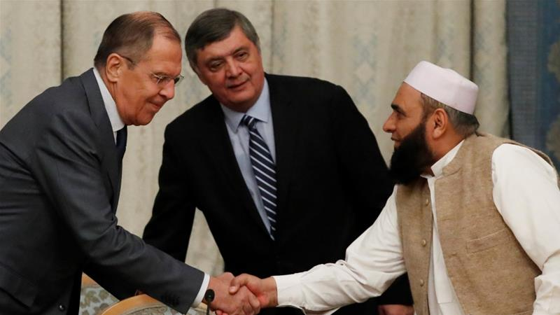 Sergey Lavrov said the meeting is meant to seek paths to national reconciliation in Afghanistan [Sergei Karpukhin/Reuters]