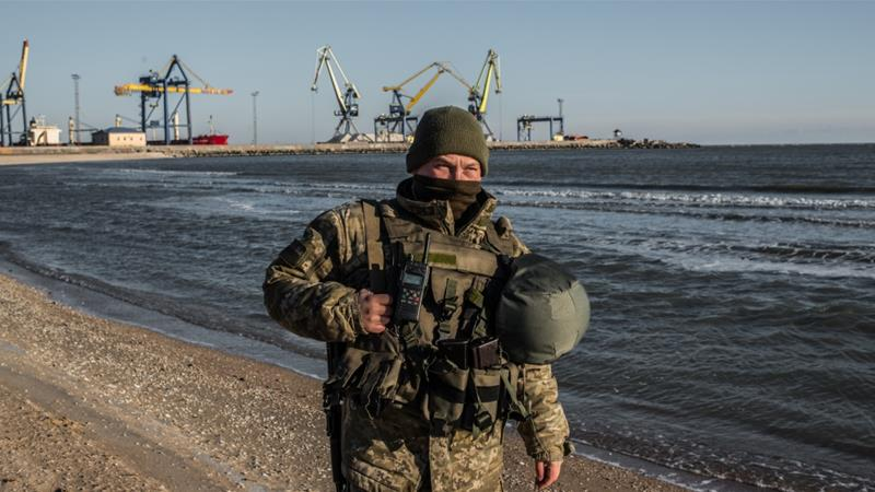 The Ukrainian government declared martial law after the Russian military escalation [Reuters]