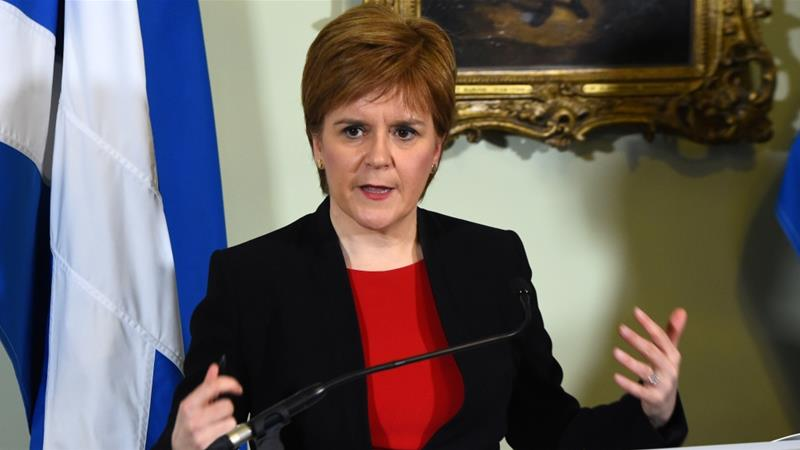 Sturgeon has 35 MPs in the British parliament. [File:Andy Buchanan/Reuters]