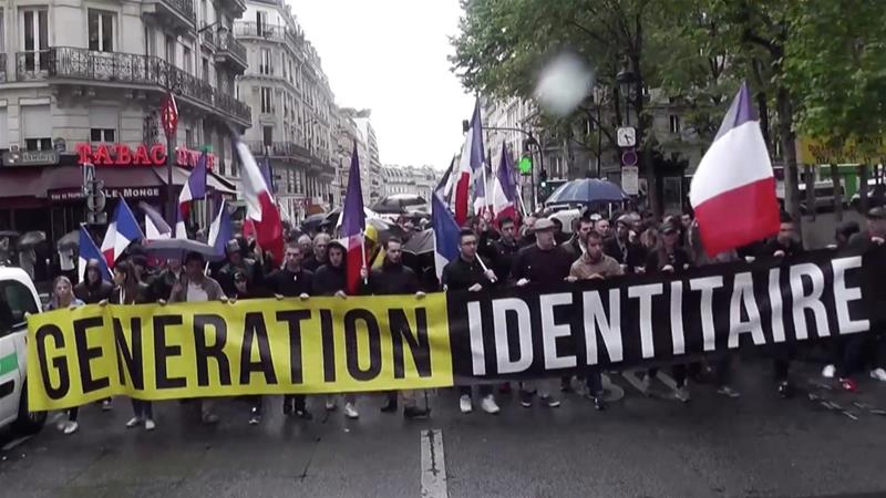 Generation Identity is the right arm of the National Front: it has brought the party's strategy of de-demonisation of the far right to perfection, writes D'Angelo [Al Jazeera/screen-grab]