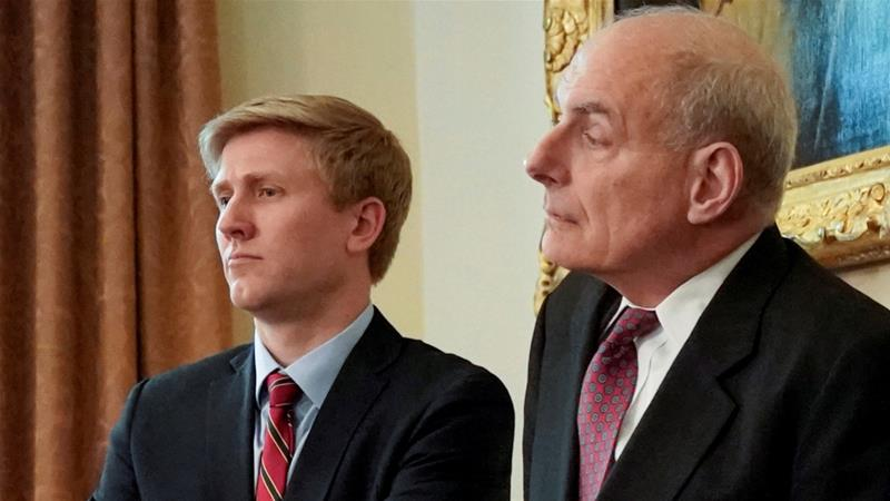 Nick Ayers, left, was expected to replace departing Chief of Staff John Kelly [Jonathan Ernst/Reuters]