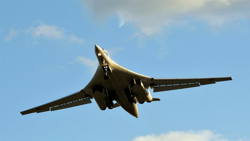 Russia's Tu-160, or 'White Swan', is the largest supersonic bomber in the world [Misha Japaridze/AP]