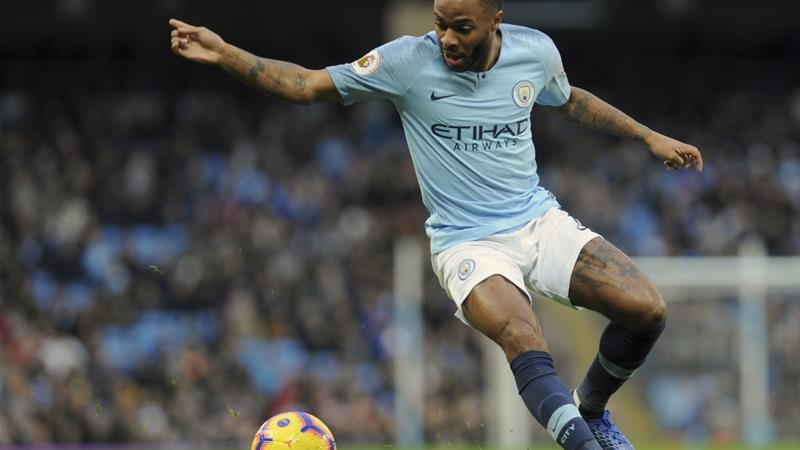 Manchester City's Raheem Sterling controls the ball during the English Premier League match between Manchester City and Bournemouth  in Manchester, England, Saturday, Dec 1, 2018 [Rui Vieira/AP]