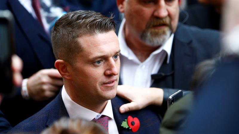 Tommy Robinson, a prominent far-right activist, plans to put on a 'comedy' tour across Australia [File: Henry Nicholls/Reuters]