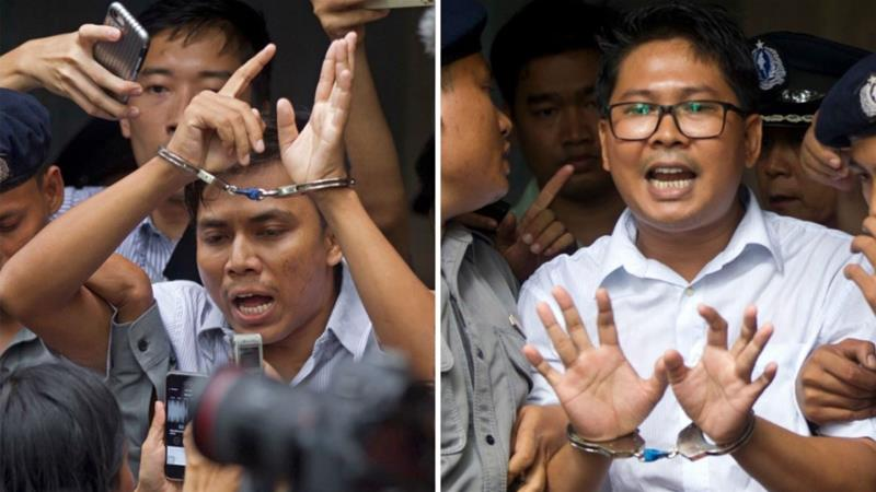 Image result for Reuters reporters jailed in Myanmar released from prison