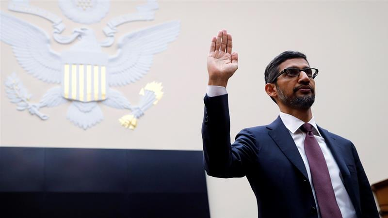 Google CEO Pichai testifies at House Judiciary Committee hearing on Capitol Hill in Washington