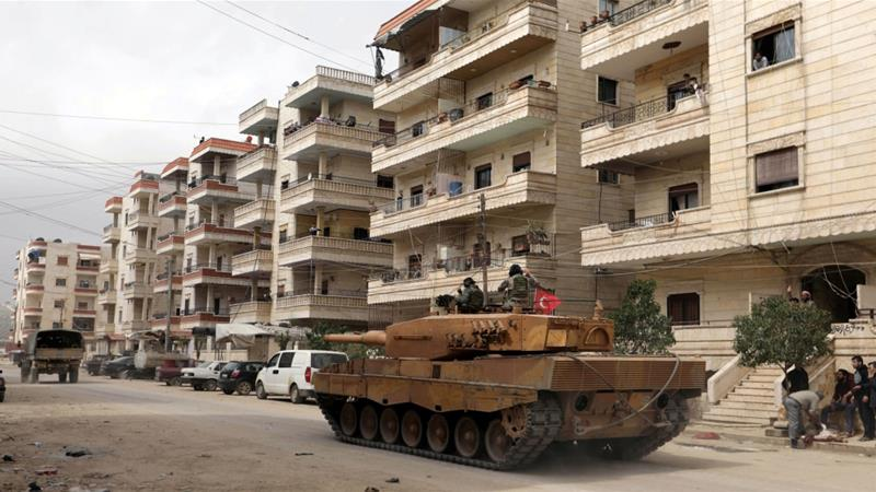 Rebel forces backed by the Turkish army seized Afrin from Kurdish fighters in early 2018 [File: Khalil Ashawi/Reuters]
