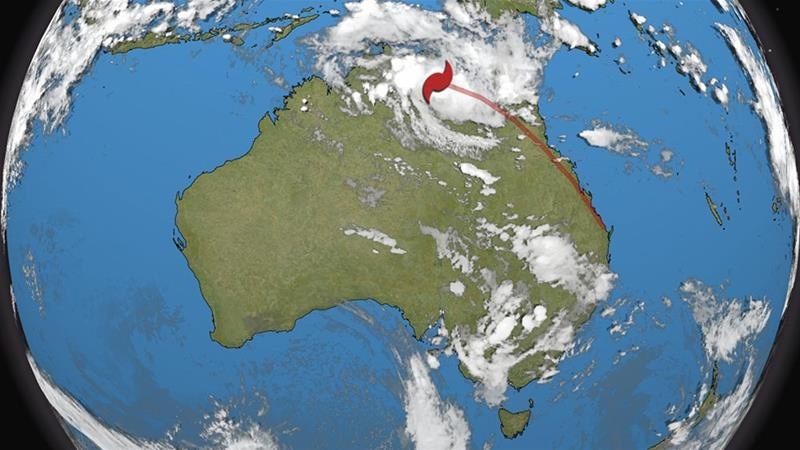 'Zombie cyclone' strengthens as it's set to cross Queensland coast