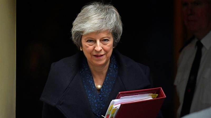 200 of the Conservatives' 317 MPs voted in favour of British Prime Minister Theresa May's leadership [Toby Melville/Reuters]