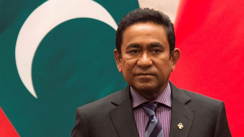 Maldives ex-president Yameen held for money laundering trial