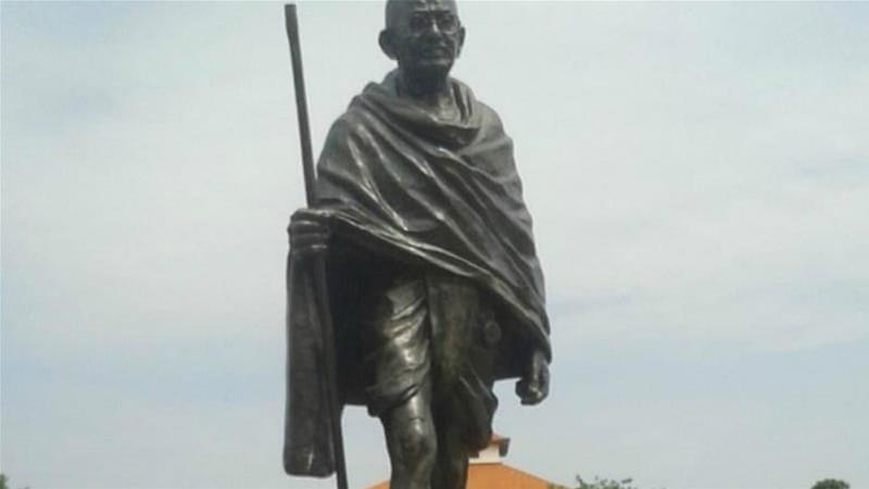 Professors began a petition for the statue's removal shortly after it was installed in 2016 [Mantse Aryeequaye/Al Jazeera]