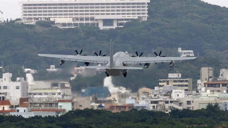 Tokyo wants to move the base from a crowded neighbourhood to a less-populated coastal site in Okinawa [File: Shizuo Kambayashi/AP]