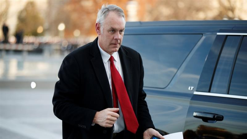 Ryan Zinke: President Trump announces secretary of interior is to step down