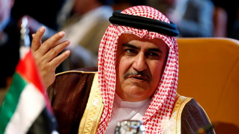 Bahrain's Foreign Minister Khalid bin Ahmed al-Khalifa has repeatedly show his support towards Israel [File:Faisal Al Nasser/Reuters]