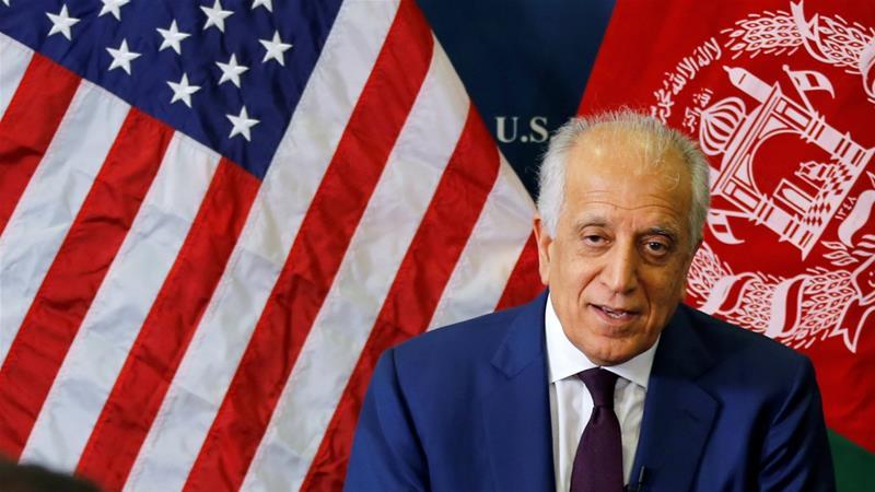 In recent months, Khalilzad has held a series of talks with Taliban representatives [US embassy/Handout via Reuters]