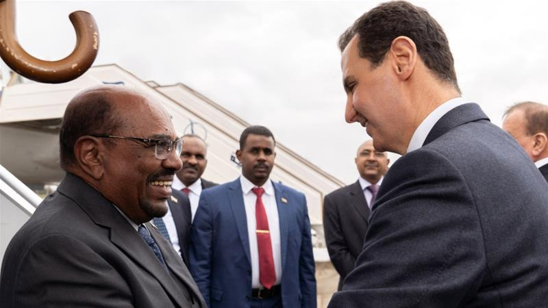 Sudan's president is first Arab leader to visit Syria since crisis