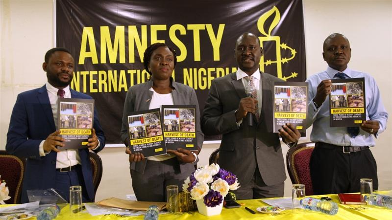 Nigeria's presidency expresses 'concern' over Amnesty activities