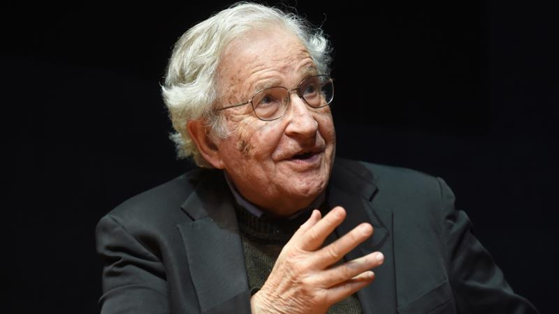 At 91 years old, US linguist and philosopher Noam Chomsky is currently self-isolating amid the coronavirus pandemic [File: Uli Deck/EPA]