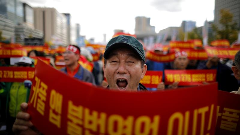 In recent months, taxi drivers have held mass rallies in Seoul against the upcoming service [File: Kim Hong-Ji/Reuters]
