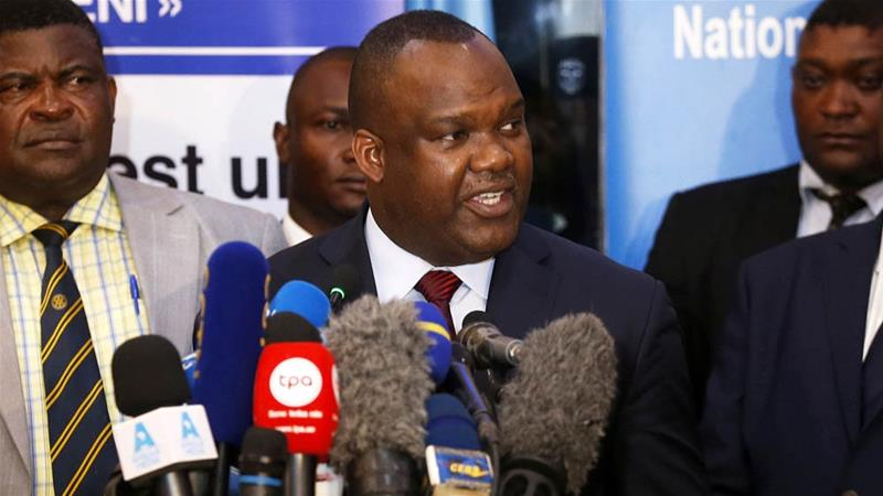 DRC's electoral commission chief Corneille Nangaa making the announcement in Kinshasa [Baz Ratner/Reuters]