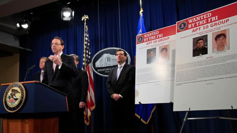 United States charges 'China government hackers'