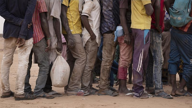 Data collected by Amnesty International show a sharp increase in collective expulsions from Algeria to Niger since 2014 [Francesco Bellina/Al Jazeera]