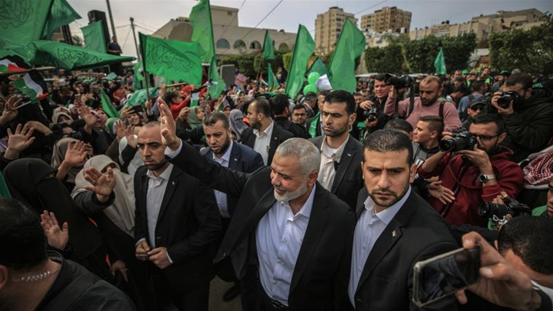 Hamas marked the 31st anniversary of the movement's establishment last week in Gaza City [File: Ali Jadallah/Anadolu]