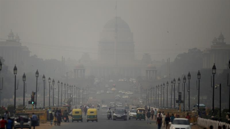 The most recent air pollution data from the WHO gave India the dubious distinction of having the world's 14 most polluted cities [File: Altaf Qadri/AP Photo]