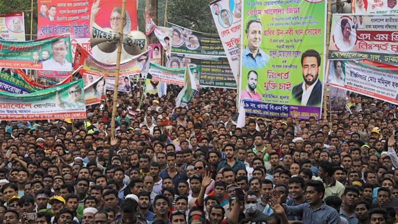 Leaders of opposition alliance Jatiya Oikya Front say their campaigning activities face violent attacks [Reuters]