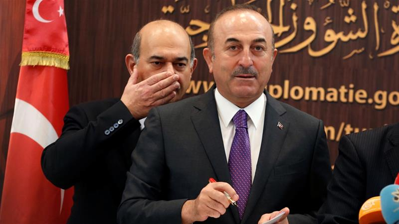 Cavusoglu made the comments while on a visit in Tunis on Monday [Zoubeir Souissi/Reuters]
