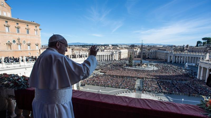 Pope hopes for peace in Yemen, Syria and other flashpoints